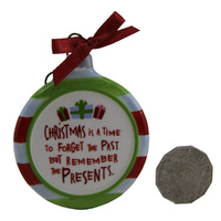 Christmas Tree Decoration Sign Ornament by RUSS BERRIE Forget the Past