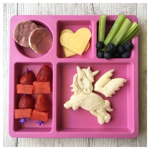 Lunch Punch I Heart Unicorn Puzzle Shape Bread Sandwich 2 Cutters Kids Children Food