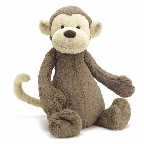 Jellycat Bashful Monkey Medium Medium Soft Plush Toy 31cm