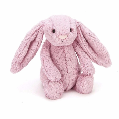 Jellycat Bashful Bunny Rabbit Tulip Pink Small Soft Plush Toy 18cm
