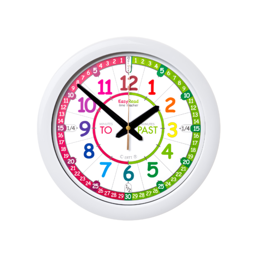 EasyRead Wall Clock Time Teacher Rainbow Face Past & To 29 cm