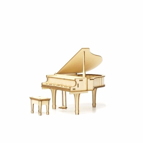 ki-gu-mi Plywood Puzzle PIANO ACCESSORY CASE Kigumi Wooden Art 3D Wooden Puzzle