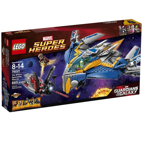 LEGO 76021 Superheroes The Milano Spaceship Rescue Building Set NEW in Box