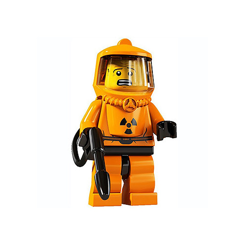 Lego 8804 Minifigure Series 4 No 13 Hazmat Guy New in Opened Packaging