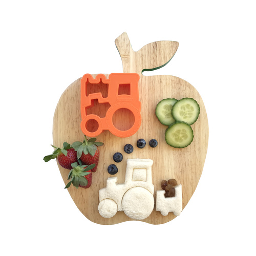 Lunch Punch Pairs Farm Cow Tractor Puzzle Shape Bread Sandwich Cutter Kids Children Food