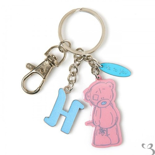 Me To You Tatty Teddy Bear Letter H Keyring with Charms by Carte Blanche