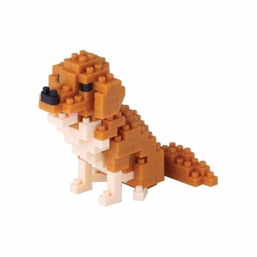 Nanoblock Mini Critters Dog Series Golden Retriever by Kawada NBC 168 NEW
