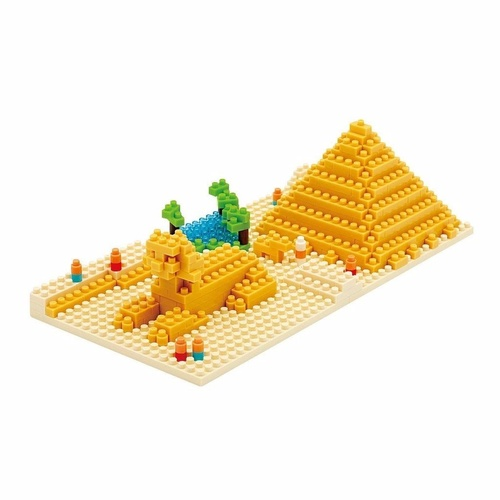 Nanoblock Mini Sites to See Series by Kawada Great Pyramid of Giza Eqypt NBH033