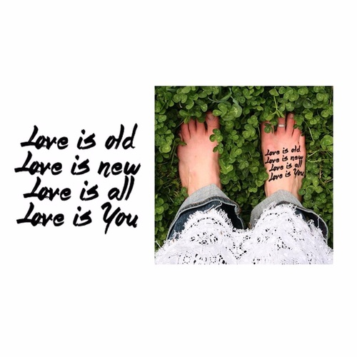 New Potatoo Temporary Tattoo LOVE IS YOU Calligraphy