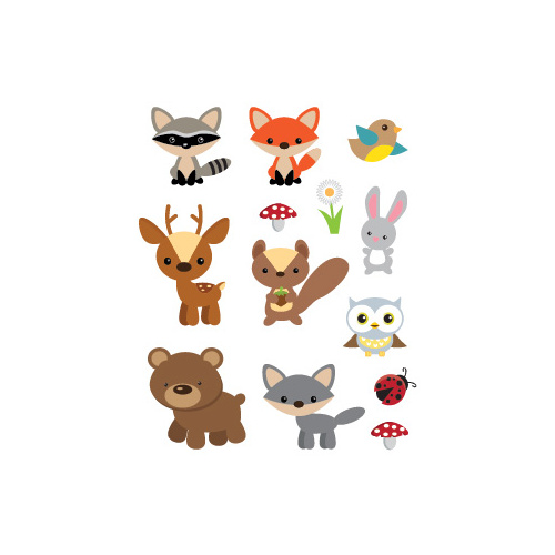 Potatoo Premier Temporary Tattoo Kids SET WOODLAND ANIMAL