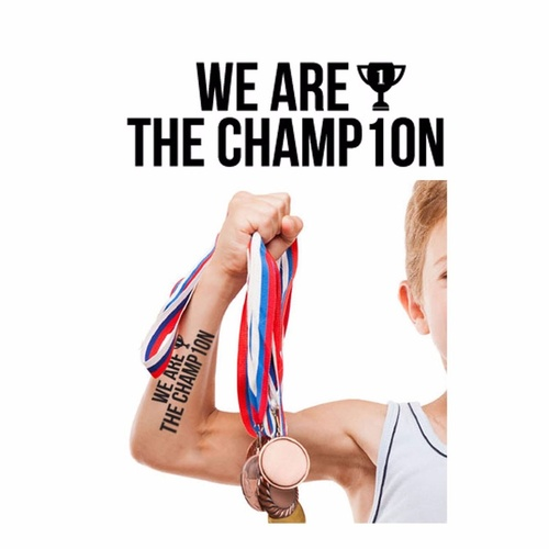 New Potatoo Temporary Tattoo WE ARE THE CHAMPION