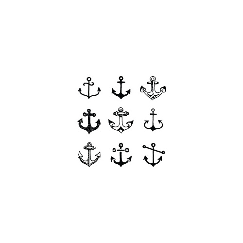 New Potatoo Temporary Tattoo NINE ANCHORS