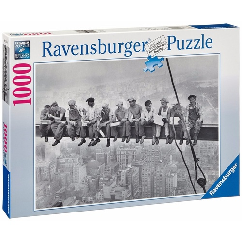 Ravensburger 1000 Piece Puzzle Lunchtime 1932 New York City RB15618-4 New