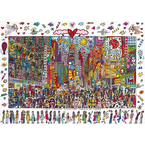 Ravensburger 1000 Piece Puzzle  Rizzi Times Square NY Panorama RB19069-0 New