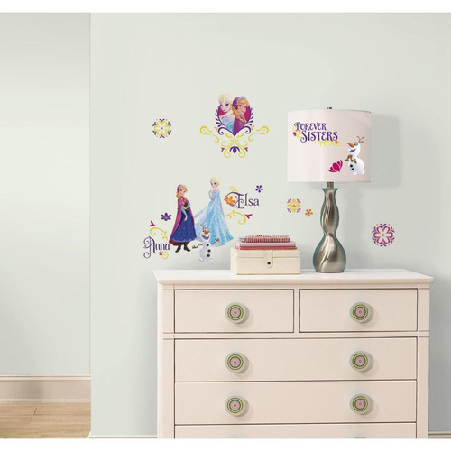 RoomMates Wall Stickers Disney Frozen Elsa Anna Spring Time Peel And Stick