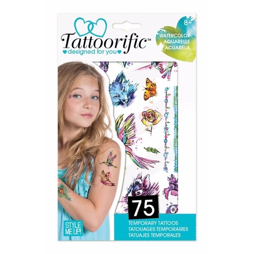 Style Me Up Tattoorific Watercolor Temporary Tattoos