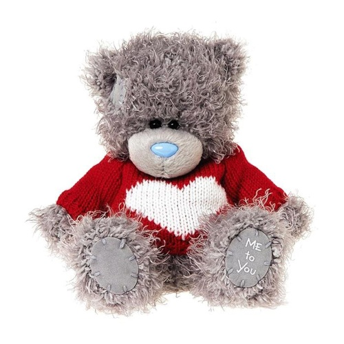 Tatty Teddy Me to You Bear Knitted Heart Jumper Carte Blanche 5 inch 13 cm
