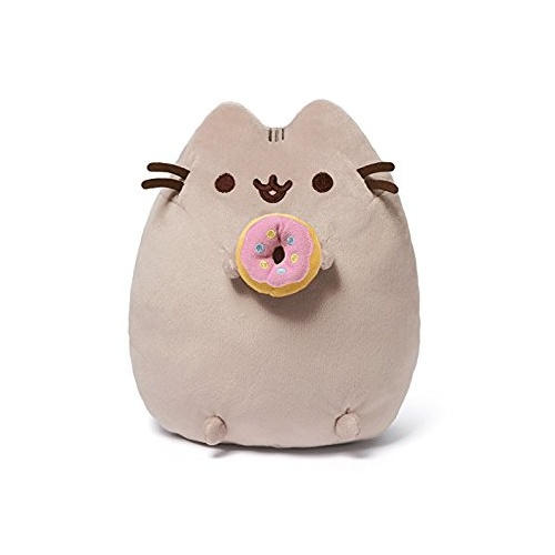 Pusheen with Donut 24 cm Licensed by Gund Pusheen the Cat